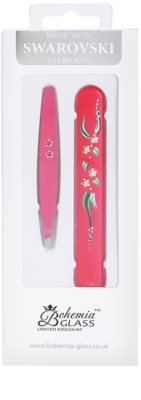 Bohemia Crystal Bohemia Swarovski Hard Painted Nail File and Tweezers coffret VII.