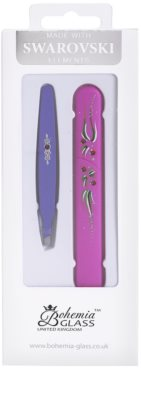 Bohemia Crystal Bohemia Swarovski Hard Painted Nail File and Tweezers coffret VIII.