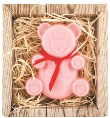 Bohemia Gifts & Cosmetics Bear ročno izdelano milo z glicerinom
