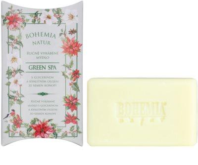 Bohemia Gifts & Cosmetics Green Spa cremige Seife mit Glycerin