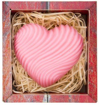 Bohemia Gifts & Cosmetics Heart ręcznie robione mydło z gliceryną