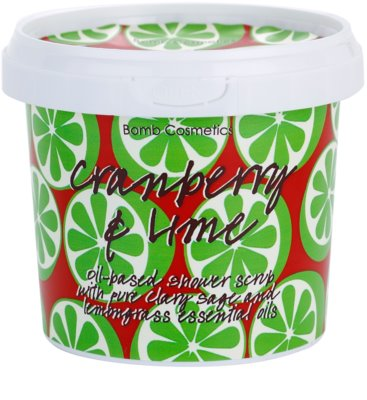 Bomb Cosmetics Cranberry a Lime gel de ducha exfoliante