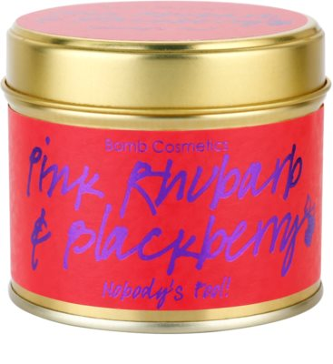 Bomb Cosmetics Pink Phubarb & Blackberry vela perfumada 1
