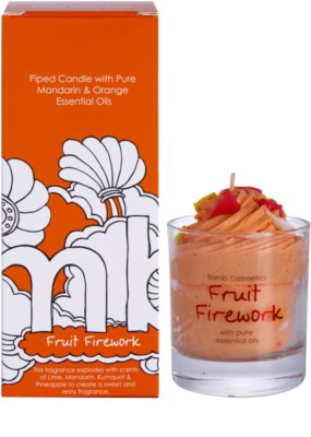 Bomb Cosmetics Piped Candle Fruit Firework Duftkerze