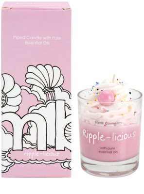 Bomb Cosmetics Piped Candle Ripple Licious vela perfumado