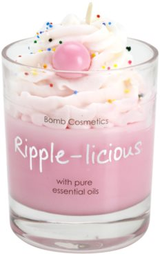 Bomb Cosmetics Piped Candle Ripple Licious Duftkerze 1
