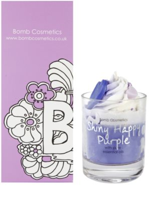 Bomb Cosmetics Piped Candle Shiny Happy Purple vela perfumada