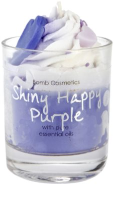 Bomb Cosmetics Piped Candle Shiny Happy Purple vonná svíčka 2