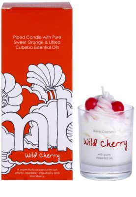 Bomb Cosmetics Piped Candle Wild Cherry Duftkerze