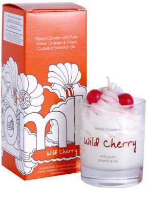 Bomb Cosmetics Piped Candle Wild Cherry Duftkerze 1