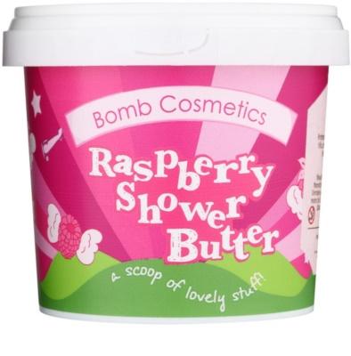 Bomb Cosmetics Raspberry Blower sprchové máslo pro suchou pokožku