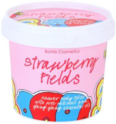 Bomb Cosmetics Strawberry Fields gel de ducha exfoliante
