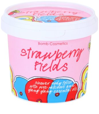 Bomb Cosmetics Strawberry Fields sprchový peeling