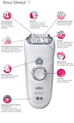 Braun Silk épil 7  7-561 epilátor na tělo a obličej 3