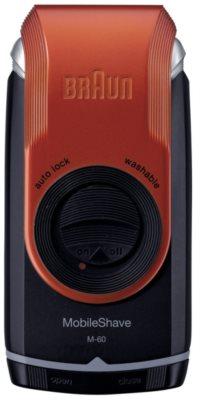 Braun MobileShave M-60r aparelho de depilação de viagem vermelha 1