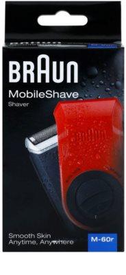 Braun MobileShave M-60r aparelho de depilação de viagem vermelha 7