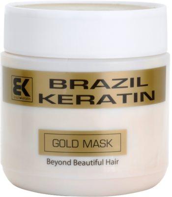 Brazil Keratin Gold keratinová regenerační maska pro poškozené vlasy