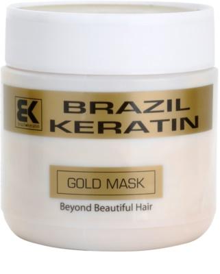 Brazil Keratin Gold máscara regeneradora de queratina para cabelo danificado