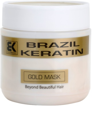 Brazil Keratin Gold mascarilla regeneradora con queratina para cabello maltratado o dañado
