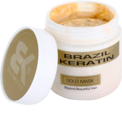 Brazil Keratin Gold máscara regeneradora de queratina para cabelo danificado 1