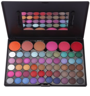 BrushArt 60 Color paleta cu fard de pleoape si fard de obraz cu oglinda si aplicator