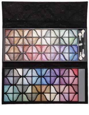 BrushArt Color paleta de sombras de ojos con un espejo pequeño