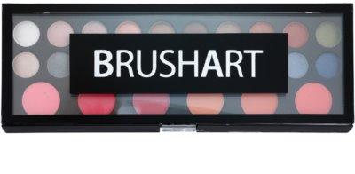 BrushArt Pro Makeup paleta de sombras de ojos y coloretes con un espejo pequeño 1