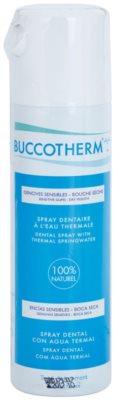Buccotherm Sensitive Gums spray przeciw suchości w ustach i kserostomii z wodą termalną