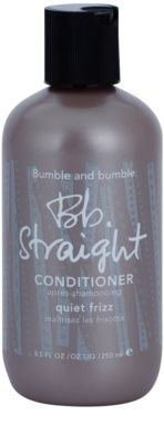Bumble and Bumble Straight condicionador para alisar o cabelo rebelde
