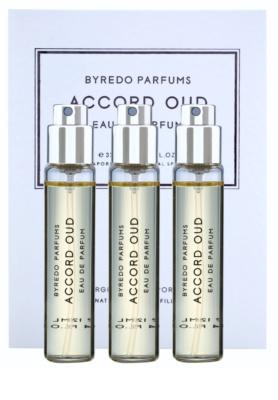 Byredo Accord Oud eau de parfum unisex  (3x utántöltő szórófejjel)