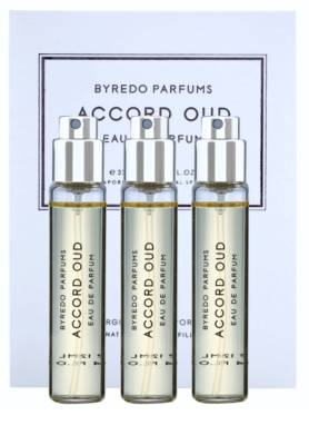 Byredo Accord Oud parfumska voda uniseks  (3x polnilo z razpršilcem)