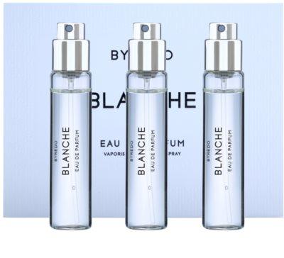 Byredo Blanche Eau de Parfum para mulheres  (3x recargas com vaporizador)