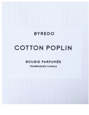 Byredo Cotton Poplin vela perfumada 3