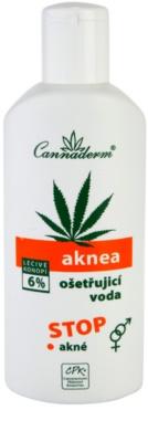 Cannaderm Aknea делікатна тонізуюча вода для обличчя проти акне