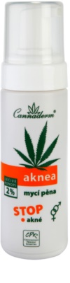 Cannaderm Aknea espuma de limpeza antiacne