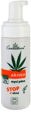 Cannaderm Aknea tisztító hab pattanások ellen 1