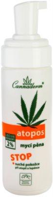 Cannaderm Atopos mycí pěna pro suchou pokožku 1