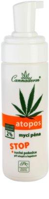 Cannaderm Atopos espuma de limpeza para pele seca 1