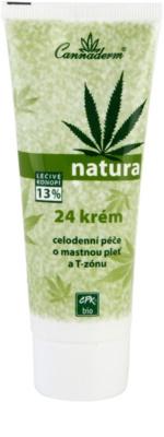 Cannaderm Natura Tages und Nachtkrem für fettige Haut