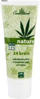 Cannaderm Natura дневен и нощен крем за мазна кожа