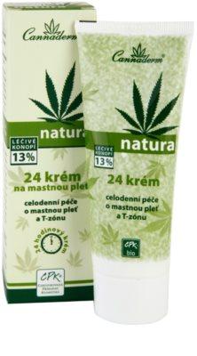 Cannaderm Natura Tages und Nachtkrem für fettige Haut 1