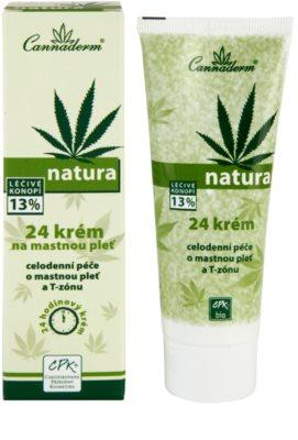 Cannaderm Natura Tages und Nachtkrem für fettige Haut 2