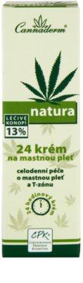 Cannaderm Natura Tages und Nachtkrem für fettige Haut 3