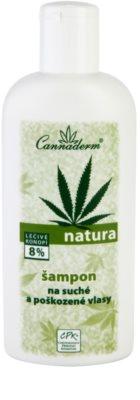 Cannaderm Natura champô para cabelo seco a danificado