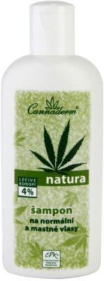 Cannaderm Natura šampon pro normální až mastné vlasy