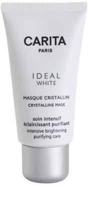 Carita Ideal White máscara facial radiance anti-manchas de pigmentação