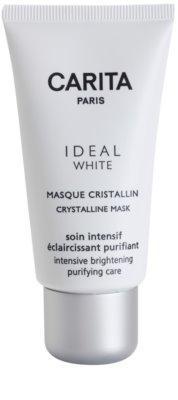 Carita Ideal White rozjaśniająca maseczka do twarzy przeciw przebarwieniom skóry