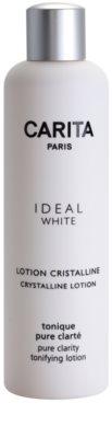 Carita Ideal White tisztító arcvíz az élénk bőrért
