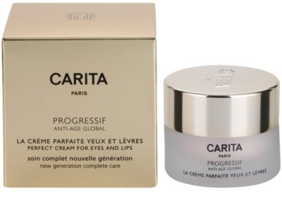 Carita Progressif Anti-Age Global komplexe verjüngende Pflege Für Lippen und Augenumgebung 2