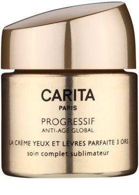 Carita Progressif Anti-Age Global подсилващ и озаряващ крем за контура около очите и устните